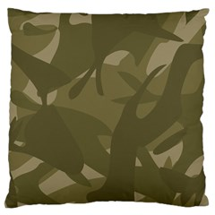 Green Camo Pattern Large Cushion Case (Two Sides)