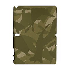 Green Camo Pattern Samsung Galaxy Note 10.1 (P600) Hardshell Case