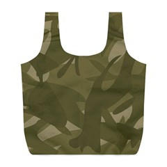 Green Camo Pattern Full Print Recycle Bags (L)