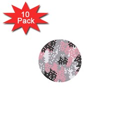 Pink Pixel Camo Pattern 1  Mini Buttons (10 pack)