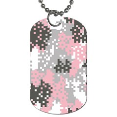 Pink Pixel Camo Pattern Dog Tag (One Side)