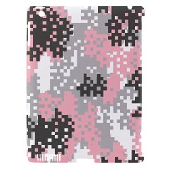 Pink Pixel Camo Pattern Apple iPad 3/4 Hardshell Case (Compatible with Smart Cover)