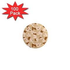 Desert Camo Pattern 1  Mini Magnets (100 pack)