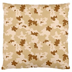 Desert Camo Pattern Large Flano Cushion Case (One Side)