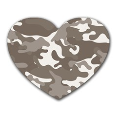 Urban Camo Pattern Heart Mousepads