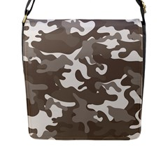Urban Camo Pattern Flap Messenger Bag (L)