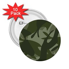 Green Camouflage Pattern 2.25  Buttons (10 pack)