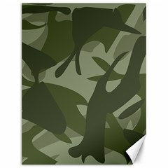 Green Camouflage Pattern Canvas 12  x 16