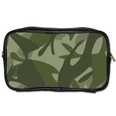 Green Camouflage Pattern Toiletries Bags