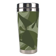 Green Camouflage Pattern Stainless Steel Travel Tumblers