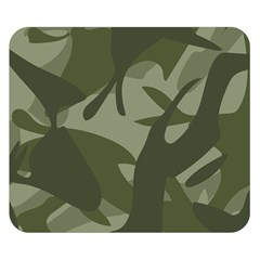 Green Camouflage Pattern Double Sided Flano Blanket (Small)