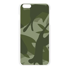 Green Camouflage Pattern Apple Seamless iPhone 6 Plus/6S Plus Case (Transparent)