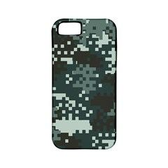 Turquoise Pixel Camo Pattern Apple iPhone 5 Classic Hardshell Case (PC+Silicone)