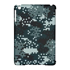 Turquoise Pixel Camo Pattern Apple iPad Mini Hardshell Case (Compatible with Smart Cover)