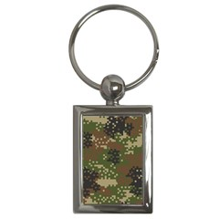 Pixel Woodland Camo Pattern Key Chains (Rectangle)