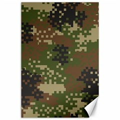 Pixel Woodland Camo Pattern Canvas 24  x 36