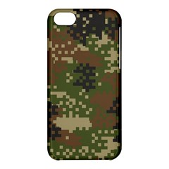 Pixel Woodland Camo Pattern Apple iPhone 5C Hardshell Case