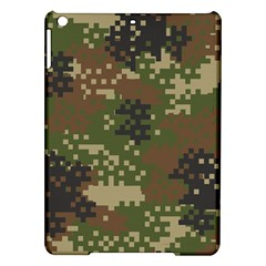Pixel Woodland Camo Pattern iPad Air Hardshell Cases