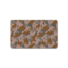 Brown And Grey Camo Pattern Magnet (Name Card)