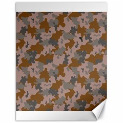 Brown And Grey Camo Pattern Canvas 18  x 24