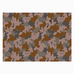 Brown And Grey Camo Pattern Large Glasses Cloth (2-Side)