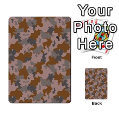 Brown And Grey Camo Pattern Multi-purpose Cards (Rectangle)