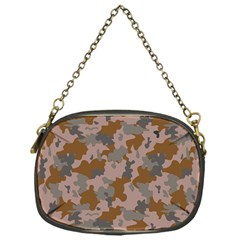 Brown And Grey Camo Pattern Chain Purses (One Side)