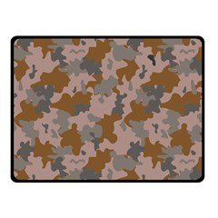 Brown And Grey Camo Pattern Fleece Blanket (Small)