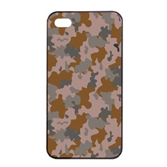 Brown And Grey Camo Pattern Apple iPhone 4/4s Seamless Case (Black)