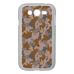 Brown And Grey Camo Pattern Samsung Galaxy Grand DUOS I9082 Case (White)