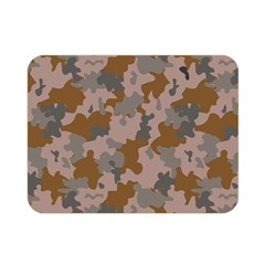 Brown And Grey Camo Pattern Double Sided Flano Blanket (Mini)