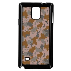 Brown And Grey Camo Pattern Samsung Galaxy Note 4 Case (Black)