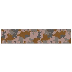 Brown And Grey Camo Pattern Flano Scarf (Small)