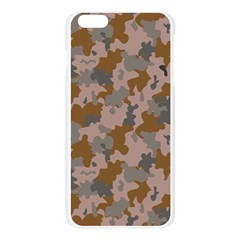 Brown And Grey Camo Pattern Apple Seamless iPhone 6 Plus/6S Plus Case (Transparent)