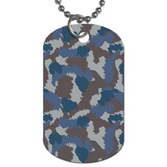 Blue And Grey Camo Pattern Dog Tag (Two Sides)