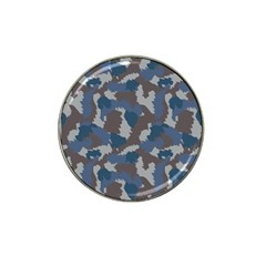Blue And Grey Camo Pattern Hat Clip Ball Marker (4 pack)