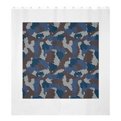 Blue And Grey Camo Pattern Shower Curtain 66  x 72  (Large)