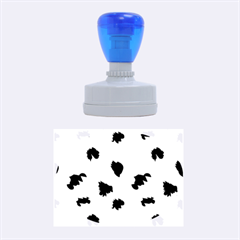 Blue And Grey Camo Pattern Rubber Oval Stamps