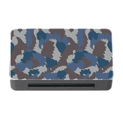 Blue And Grey Camo Pattern Memory Card Reader with CF