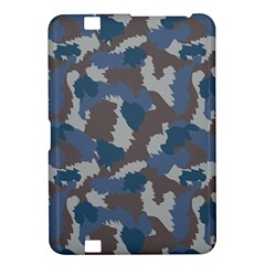 Blue And Grey Camo Pattern Kindle Fire HD 8.9
