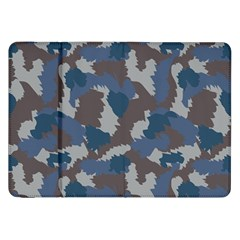 Blue And Grey Camo Pattern Samsung Galaxy Tab 8.9  P7300 Flip Case