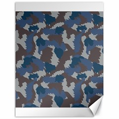 Blue And Grey Camo Pattern Canvas 18  x 24