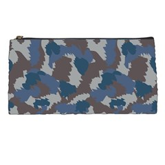 Blue And Grey Camo Pattern Pencil Cases