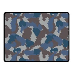 Blue And Grey Camo Pattern Fleece Blanket (Small)