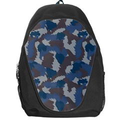 Blue And Grey Camo Pattern Backpack Bag