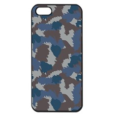 Blue And Grey Camo Pattern Apple iPhone 5 Seamless Case (Black)