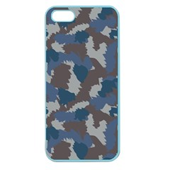 Blue And Grey Camo Pattern Apple Seamless iPhone 5 Case (Color)