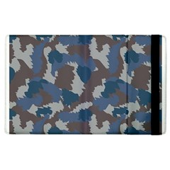 Blue And Grey Camo Pattern Apple iPad 3/4 Flip Case
