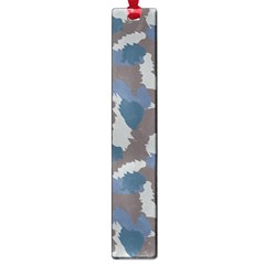 Blue And Grey Camo Pattern Large Book Marks