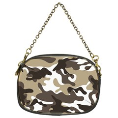 Urban White And Brown Camo Pattern Chain Purses (One Side)
